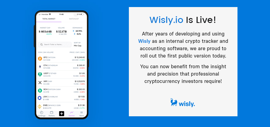 Wisly is Live - Crypto Tracking Tool