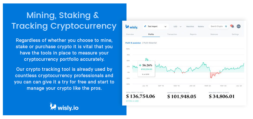 Mining, Staking and Tracking Cryptocurrency - Wisly Crypto Wallet