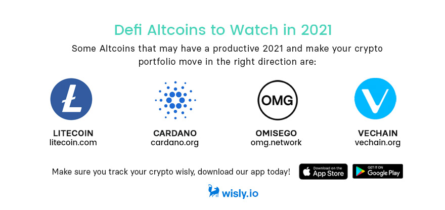 Litecoin, Cardano, OMG, Vechain Altcoins 2021 - Crypto Wallet Wisly